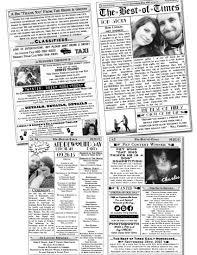 newspaper wedding programs sles inspiration kotwodesignsblog