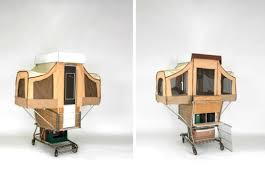 shopping home cer kart is a tiny home that pops out of a shopping cart