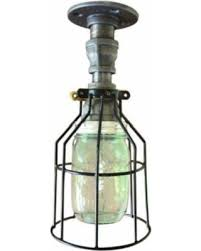 industrial pipe light fixture here s a great deal on industrial pipe light green mason jar black