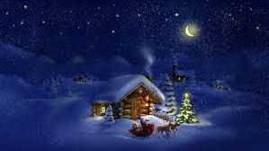 new year santa claus santa claus reindeer houses winter snow
