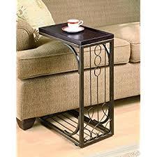 amazon com micoe height adjustable with wheels sofa side table