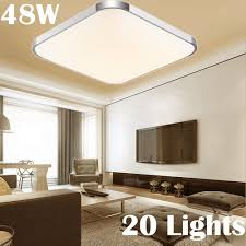 20pcs modern square led panel ceiling light bathroom flush lamp