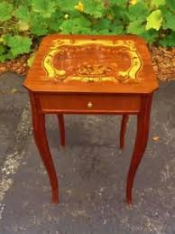 victorian style side table beautiful inlaid victorian style cocktail side table ebay