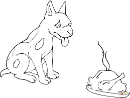 hungry dog coloring page free printable coloring pages