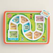 dinner winner board game plate