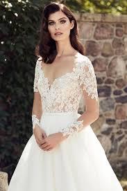 wedding dress lace sleeves illusion lace sleeve wedding dress style 4744 blanca