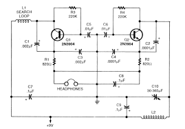 basic circuitry of metal detection