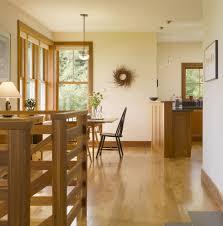 north facing room kitchen farmhouse with wood flooring slat back