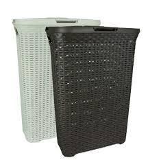 thin laundry hamper curver 40 l slim rattan style plastic laundry linen basket storage