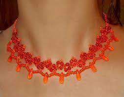 orange beads necklace images Free pattern for beaded necklace orange fresh beads magic jpg