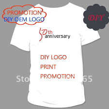 diy logo print t shirt promotion plug size loose t shirt oem any