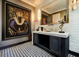 Modern Powder Room - always on trend 20 powder rooms in black and white