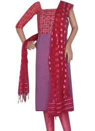 buy light lavender and pink combination chanderi salwar suit