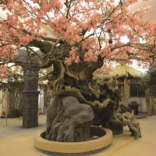 artificial landscaping plants sculptured cherry blosoom tree