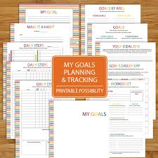 goal planning and tracking worksheet printable 11 pages