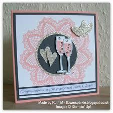 Congratulations Engagement Card Flower Sparkle Sparkly Congratulations Engagement Card