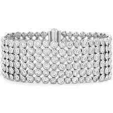 bracelet diamond images Hof 6 row bezel diamond bracelet png