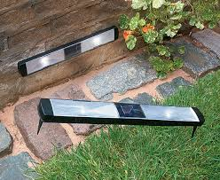 solar powered patio lights pifcos solar powered path lights moh outdoor lighting