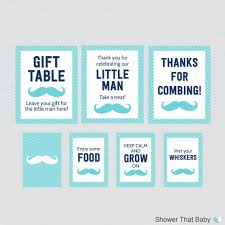 baby shower signs printable mustache baby shower table signs eight signs