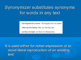 Synonyms For Light Synonymizer Software Create Content In Seconds Enrich Your Writing