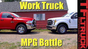 Ford Diesel Truck Mpg - ford f250 vs ram 2500 which hd work truck is the mpg champ youtube