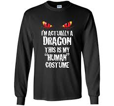 Halloween Costumes T Shirts by Im Actually A Dragon Funny Halloween Costume T Shirt U2013 Trend Shirt