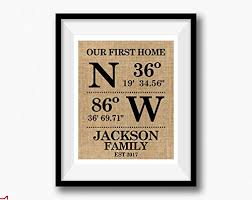 where to register for housewarming our home personalized gps coordinates family housewarming