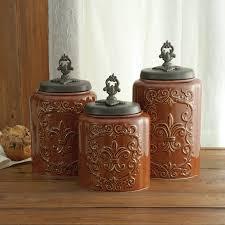 kitchen counter canister sets design guild 3 kitchen canister set reviews wayfair