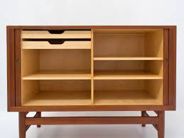 mid century credenza danish teak storage cabinet by worts mobler