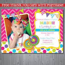candy themed birthday party invitations cimvitation