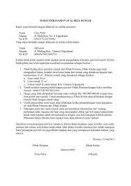 format surat kuasa jual beli rumah download contoh surat perjanjian jual beli rumah terbaru