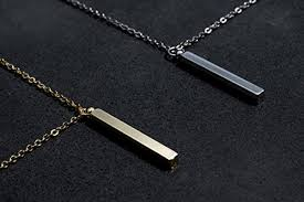 man necklace gift images Same day shipping gift til 2pm cdt men 39 s vertical id name bar
