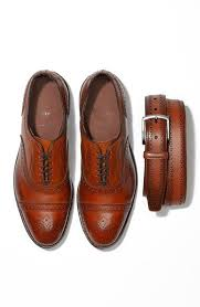 manistee brogue leather belt allen edmonds brogues and leather