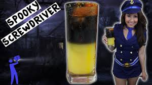 spooky screwdriver halloween tipsy bartender youtube