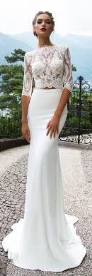 wedding reception dresses 714 best crop top two wedding dresses images on