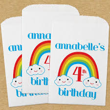 paper favor bags personalized paper favor bags rainbow s birthday