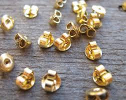 gold earring backs gold earring backs etsy