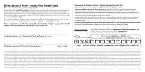 direct deposit card excella card direct deposit form fill online printable