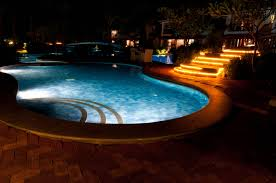 Outdoor Water Features With Lights by Outdoor Lighting Trends For Long Winter Nights Cypress Custom Pools