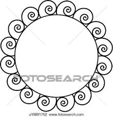clipart of acborder circle contemporary fancy frame iron