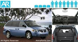 dodge rent a car dodge caravan minivan hawaii rental cars