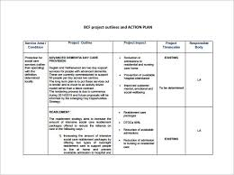 project action plan template business action plan templates guide
