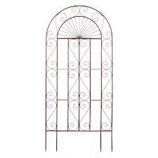 belham living lexington 6 5 ft wood and steel trellis hayneedle