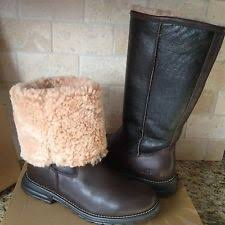 womens fur boots size 9 ugg australia black leather fur boots womens size 9 ebay