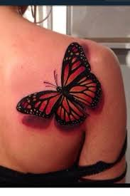 thinking about a butterfly on right shoulder blade with