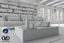 living room loft c4d corona render 3d model cgtrader