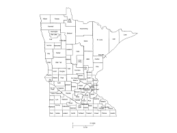 mn counties map minnesota counties major cities powerpoint map maps for