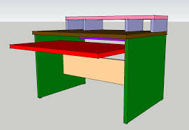 bureau home studio projet fabrication meuble studio