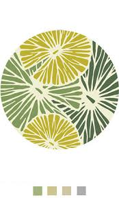 Yellow Circle Rug Graphic Nature Inspired Bespoke Round Rugs From Interiors By