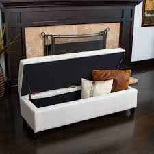 linen storage ottoman bench brighton ivory linen storage ottoman by christopher knight home